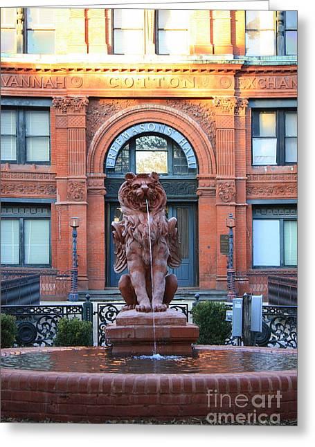 Cotton Exchange Building In Savannah  Greeting Card by Carol Groenen