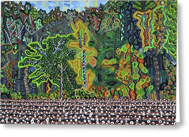 """""""cotton Fields"""" Greeting Cards - Cotton Field Off Highway 64 - 3 Greeting Card by Micah Mullen"""