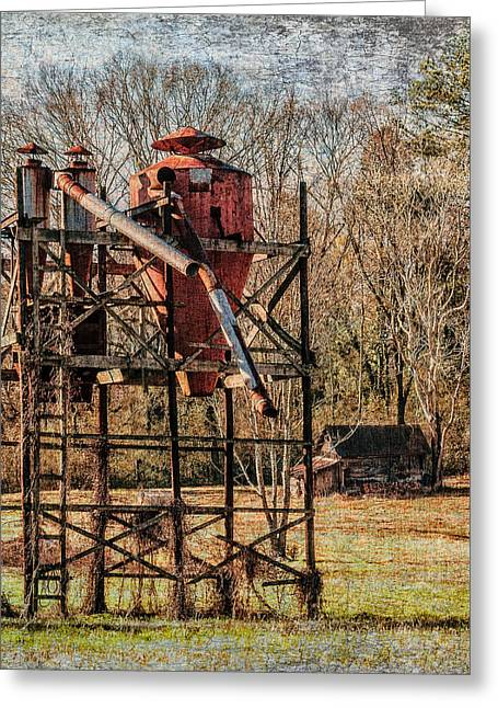 Cotton Gin In Vincent Alabama Greeting Card by Phillip Burrow