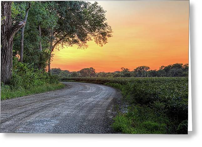 Cottonwood Sunset Greeting Card by JC Findley