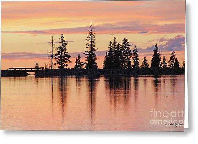 Cottonwood Sunset Lake Reflections  Greeting Card