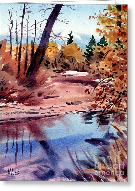 Cottonwoods In October Greeting Card by Donald Maier