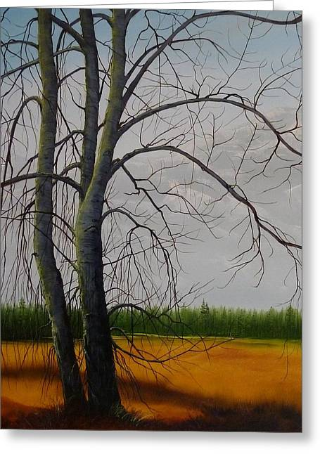 Cottonwoods Greeting Card