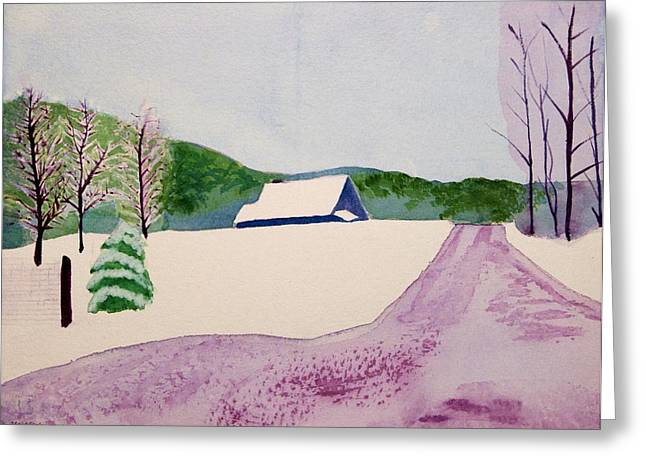 Couch Brook Farm Greeting Card by Charlotte Hickcox