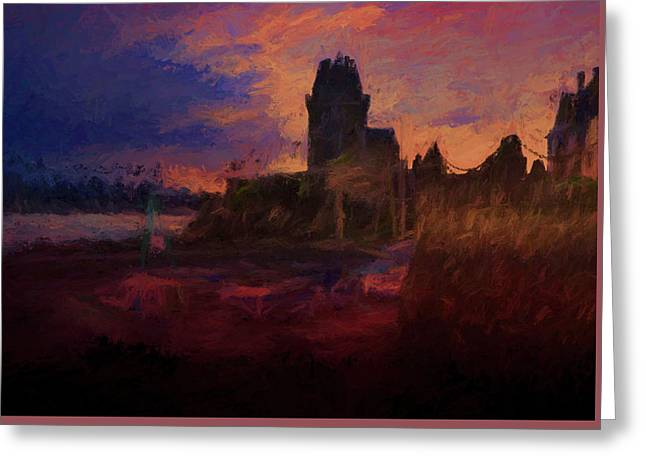 Coucher De Soleil Sur Solidor Greeting Card by Karo Evans