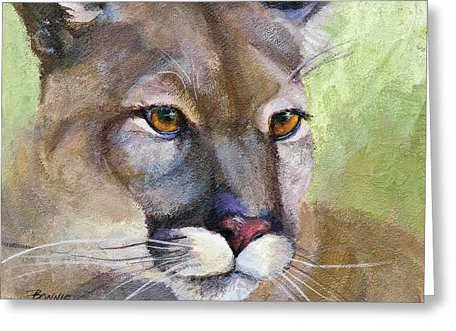 Cougar 2 Greeting Card by Bonnie Rinier