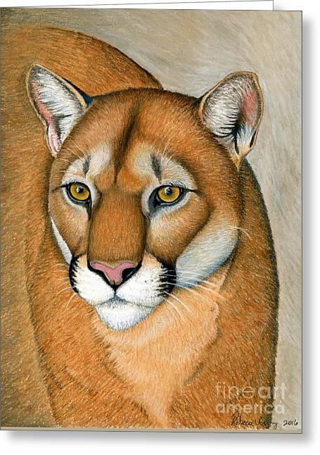 Cougar Portrait Greeting Card