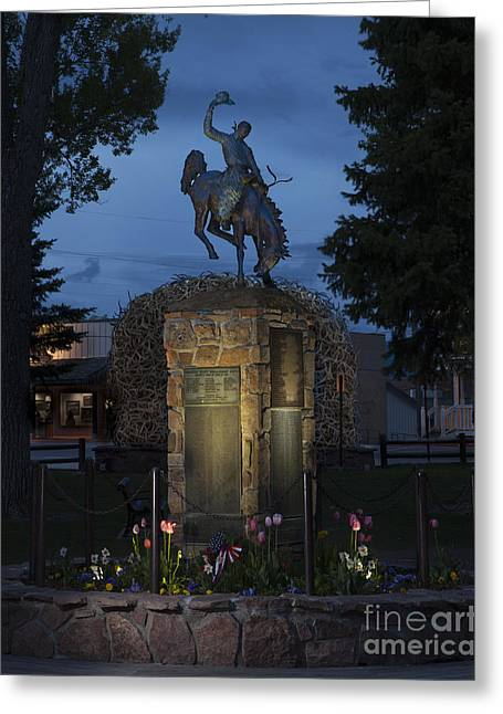 Coulter Memorial, Jackson, Wyoming Greeting Card by Greg Kopriva