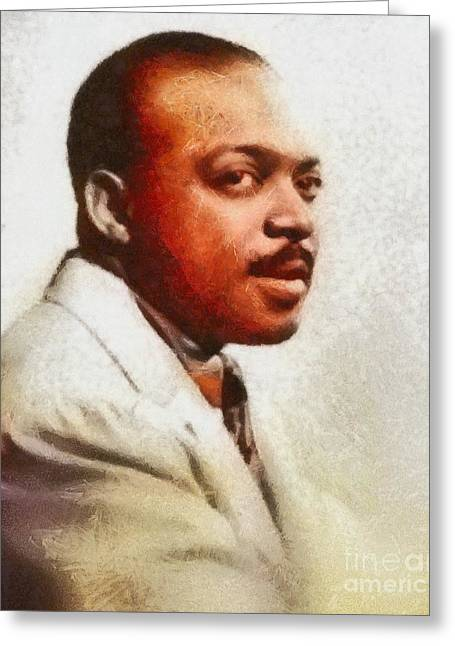 Count Basie, Music Legend Greeting Card