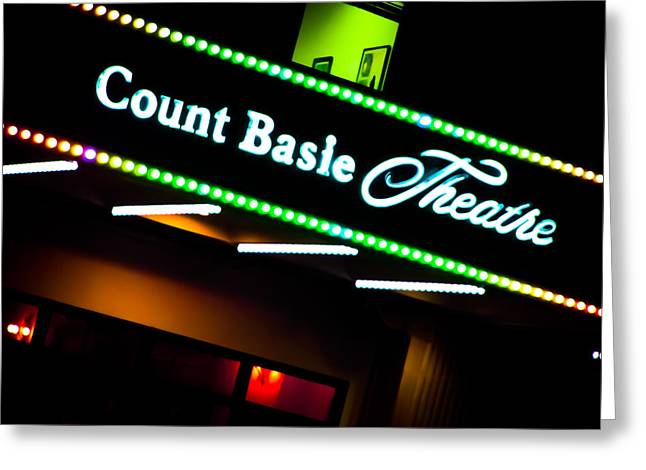 Count Basie Theatre Lights In Color Greeting Card