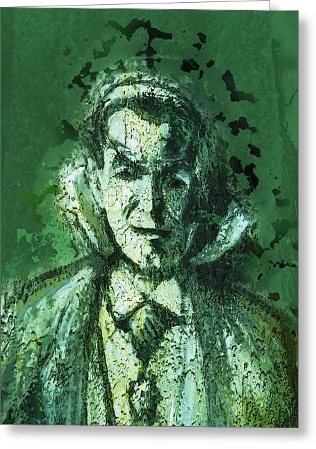 Count Dracula Greeting Card by Pamela Williams