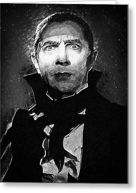 Count Dracula Greeting Card by Taylan Apukovska