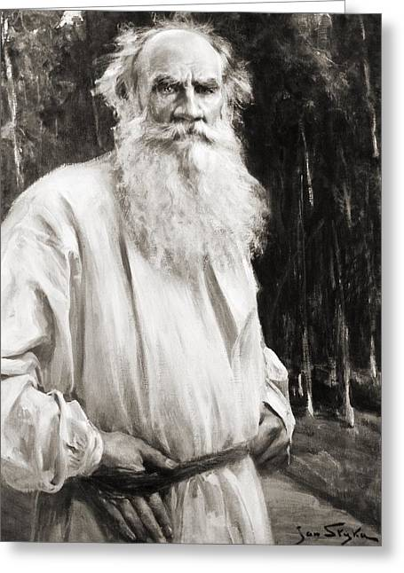 Count Leo Tolstoy 1828 To 1910. Russian Greeting Card by Vintage Design Pics