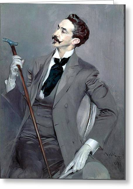 Count Robert De Montesquiou Greeting Card