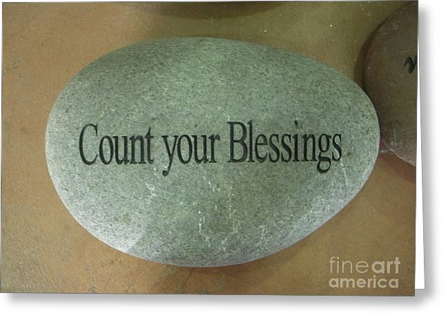 Count Your Blessings Greeting Card by Deborah Finley