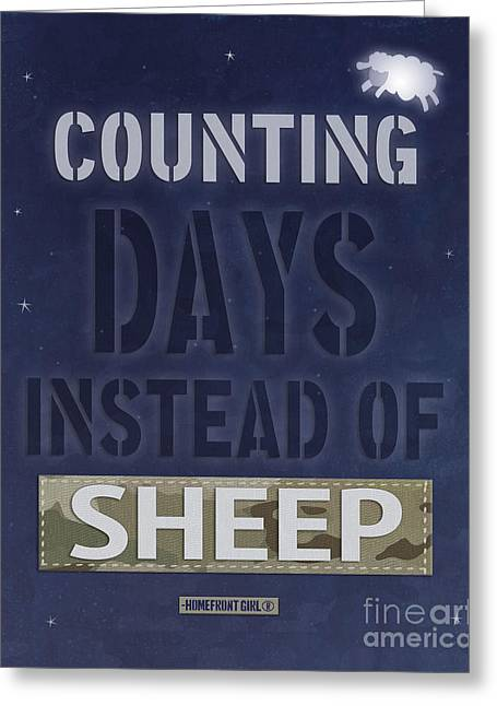 Counting Days Instead Of Sheep Greeting Card by Gaby Juergens