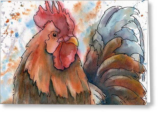 Country Alarm Clock Greeting Card by Marsha Elliott