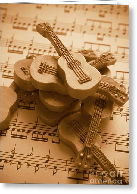 Country And Western Guitars. Music Education Greeting Card