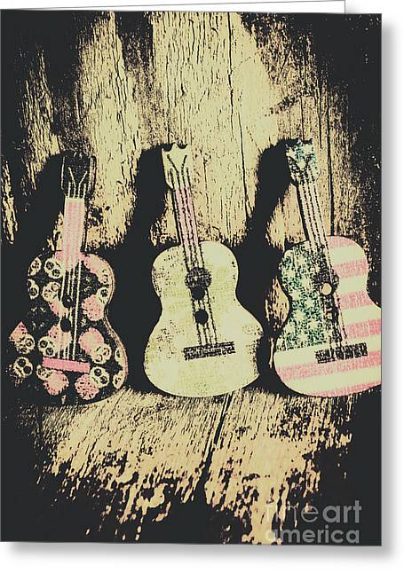 Country And Western Saloon Songs Greeting Card