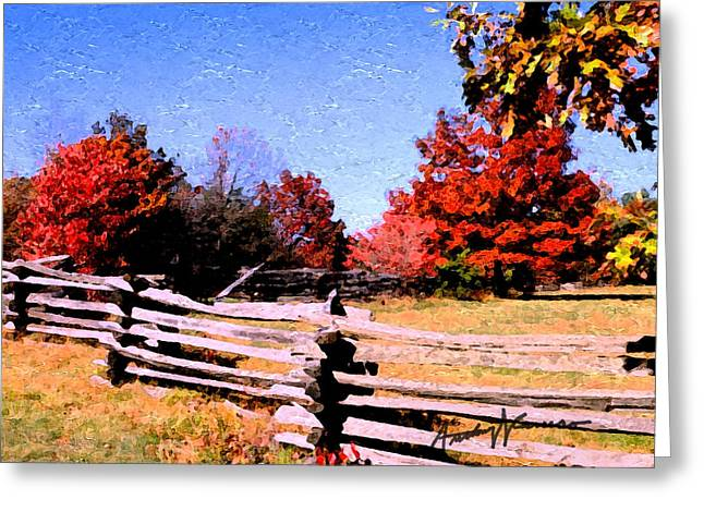Country Autumn Greeting Card by Anthony Caruso