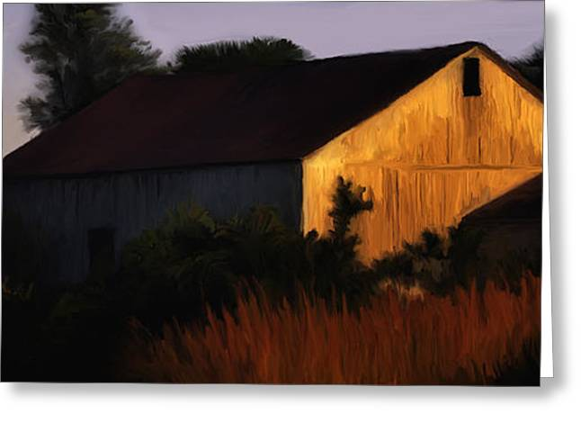 Country Barn Greeting Card by Brian Fisher