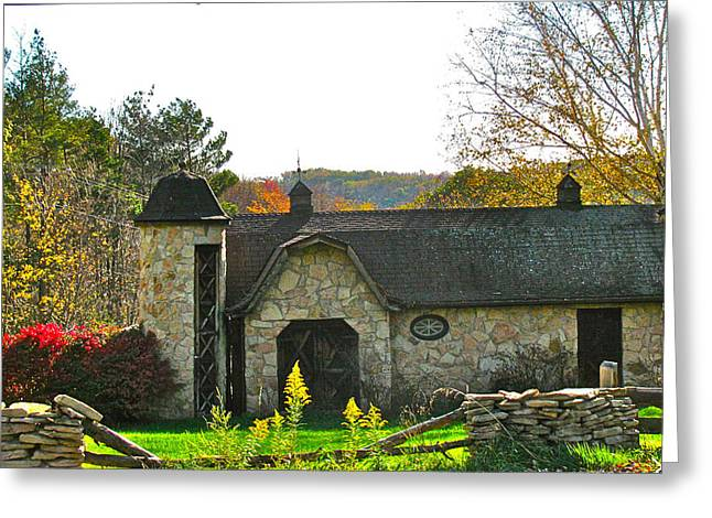 Country Barn Greeting Card by Debra     Vatalaro