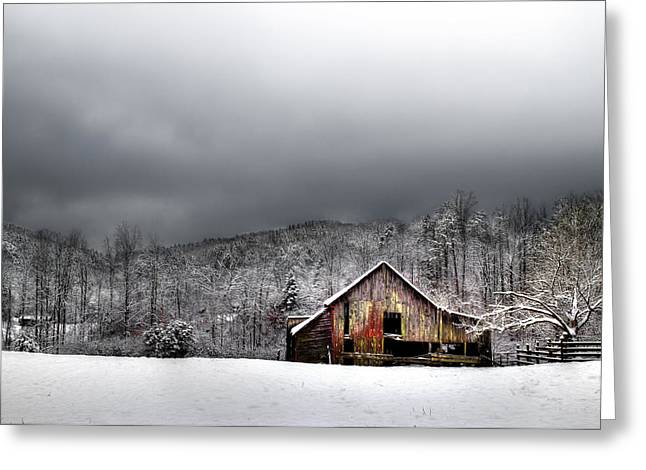 Country Barn In The Smokies Greeting Card by Mike Eingle