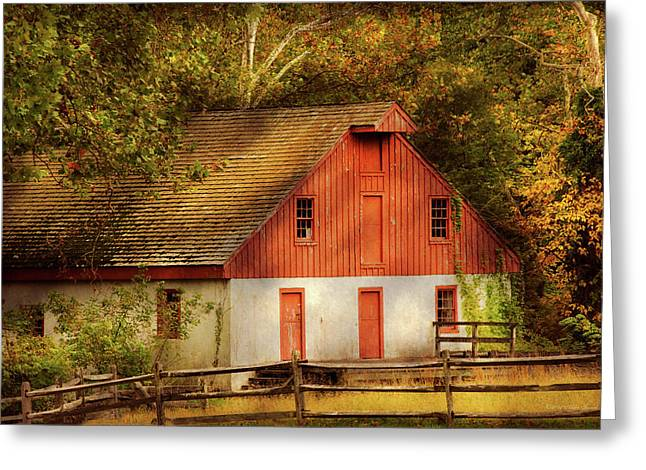 Country - Barn - Out To Pasture Greeting Card by Mike Savad