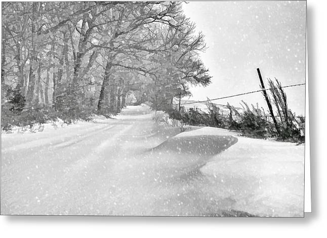 Country Blizzard  Greeting Card