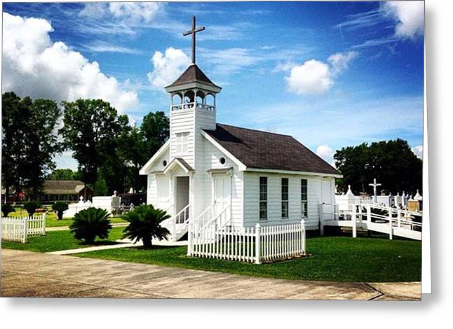 Country Chapel #love #church #louisiana Greeting Card