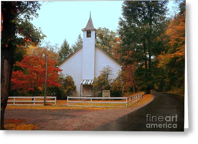 Greeting Card featuring the photograph Country Church by Brenda Bostic