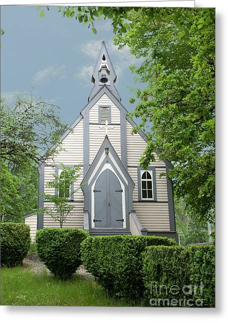 Country Church Greeting Card by Rod Wiens