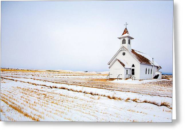 Country Church Greeting Card by Todd Klassy