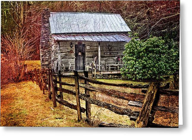 Country Cottage Farm Greeting Card
