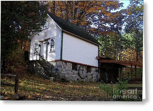 Country Cottage In Autumn Greeting Card by Desiree Paquette