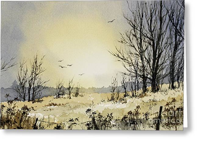 Greeting Card featuring the painting Country Dawn by James Williamson