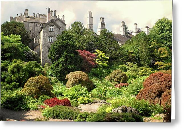 Country Estate Greeting Card by Martin Newman