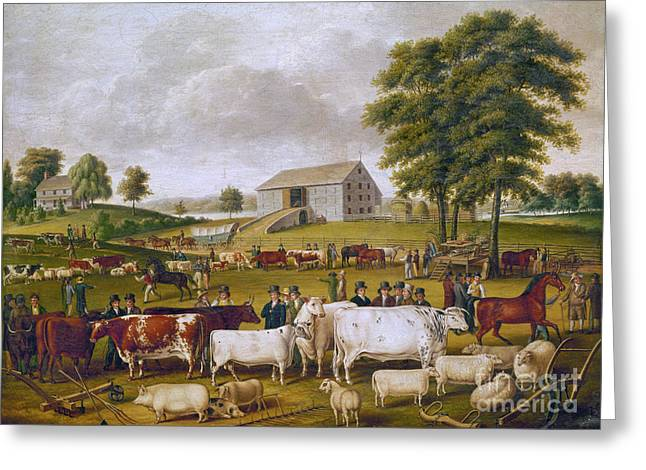 Country Fair, 1824 Greeting Card by Granger