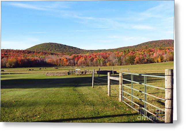 Country Farm And Family Plot Greeting Card