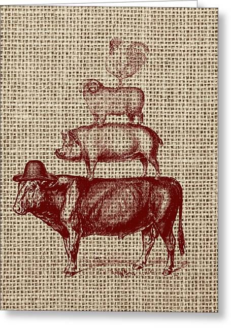 Country Farm Friends 2 Greeting Card