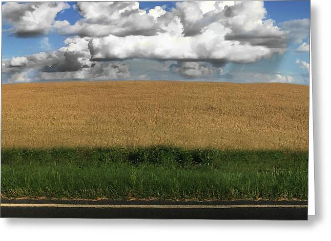 Greeting Card featuring the photograph Country Field by Brian Jones