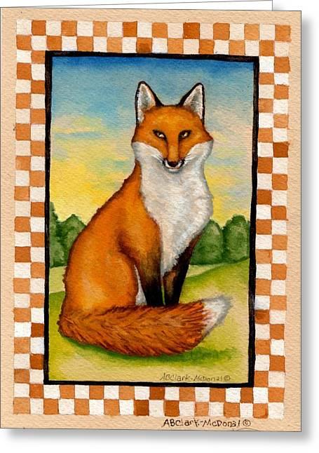 Country Fox Greeting Card by Beth Clark-McDonal