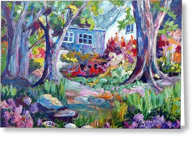 Country Garden Greeting Card by Saga Sabin