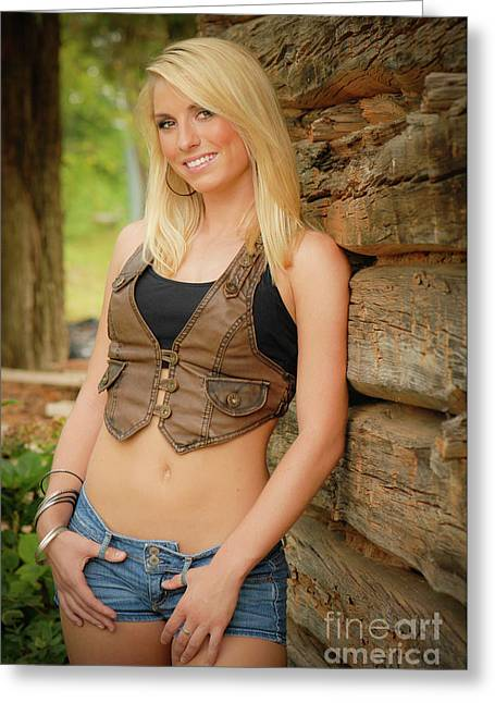 Country Girl Greeting Card by Jt PhotoDesign