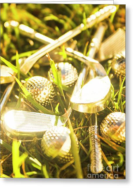 Country Golf Greeting Card