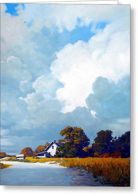 Country Home Greeting Card by Kevin Lawrence Leveque