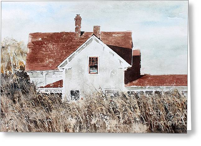 Country Home Greeting Card by Monte Toon