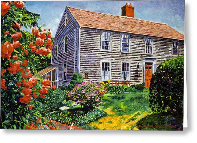 Country House Cape Cod Greeting Card