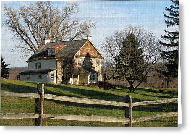 Country House Greeting Card by Gordon Beck