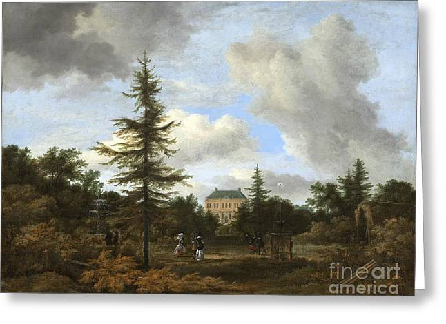 Country House In A Park Greeting Card by Celestial Images